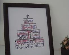 Lembran�a de casamento arte palavras