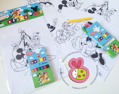 Kit de colorir Casa do Mickey - Simples