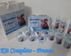 Kit Festa Frozen Completo.- 60 pe�as