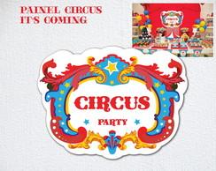 Placa Mesa Painel Festa Circo