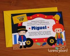 Convite - Ingresso de Circo