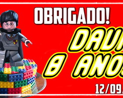 Kit 40 Tags/Etiquetas Lego personagens