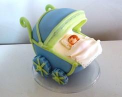Topo de bolo carrinho de beb�