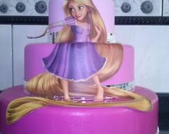 Bolo Cenogr�fico Rapunzel Enrolados