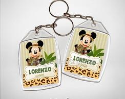 Chaveiro Personalizado Mickey Safari