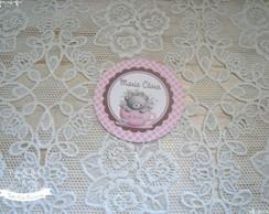 Ursinha- Ch� de beb� - Adesivo 5cm