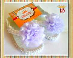 Chinelo Baby P�rolas Flor