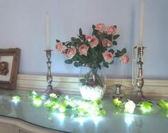 Cord�o de Luz,Lumin�ria flores, Pisca