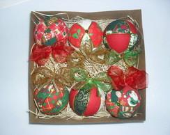 Bolinhas de Natal - Caixa com 6 unidades