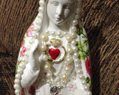 Nossa Senhora de F�tima manto floral.