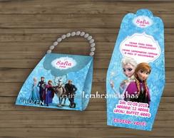 Convite Bolsinha Frozen