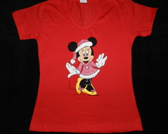 camiseta MINNIE -Boas Festas ADULTO