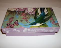 Caixa Decorada Beija Flor Sabonete Lil�s