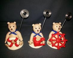 Porta recado urso marinheiro