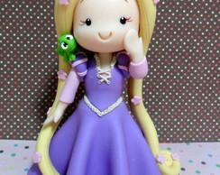 Topo de Bolo Rapunzel Enrolados