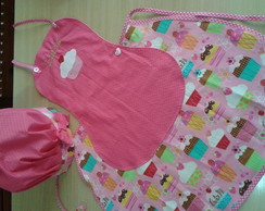 avental infantil personalizado + chap�u