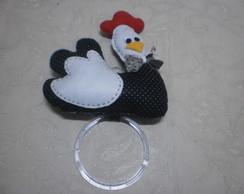 Kit para cozinha galinhas em feltro