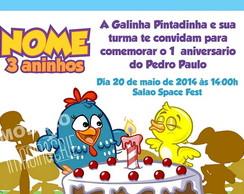 Convite Galinha Pintadinha- ref 0307