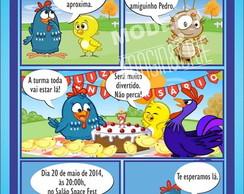 Convite Galinha Pintadinha- ref 0329