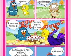 Convite Galinha Pintadinha- ref 0330