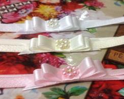 KIT 3 faixas la�o:branco,nude e rosa