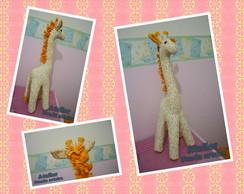 Girafa de pano (fica em p� sem apoio)