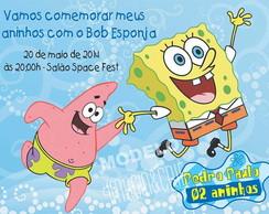 Convite digital Bob Esponja- ref 0120