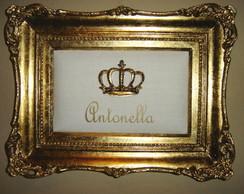 Quadro Diamond nome e coroa