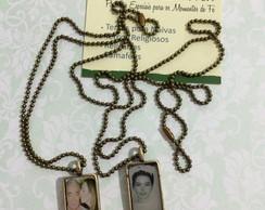 Mini medalhas retangular vintage