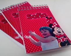 Bloquinho Personalizado + l�pis - Minnie