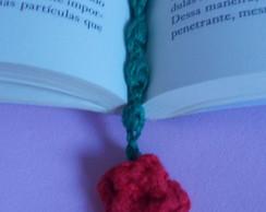 Marcador de P�ginas Rosa de Croch�