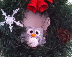 Guirlanda de Natal Coruja da Neve