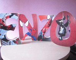 Homem Aranha letras decoradas
