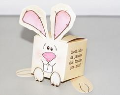 Caixa Coelhinho personalizada - quadrada