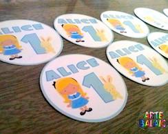 Tags Adesivos Personalizados Alice