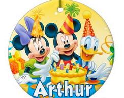 Super Tag 8 cm Com Fitinha Festa Mickey