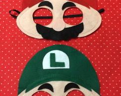 Mascara em feltro da Turma do Mario Bros