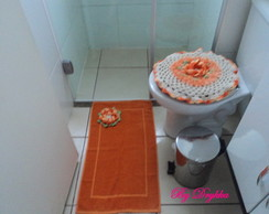 jogo de tapete de banheiro bergamota