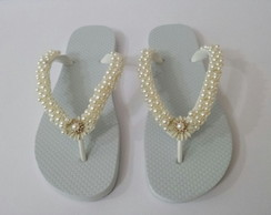 Chinelo Customizado Com P�rolas