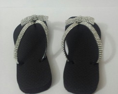 Chinelo Customizado Com La�o de Strass