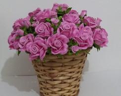 Cesto com Flores em Eva