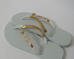 Chinelo Customizado Com Fivela