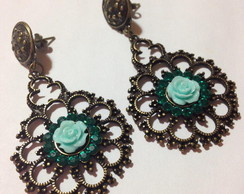 Vintage Rose Earring (c/strass)