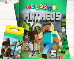 Kit Revista + Giz Minecraft