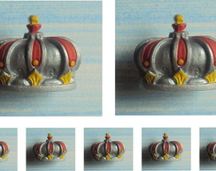 kit Puxadores Coroa Real Prata (05 pe�as
