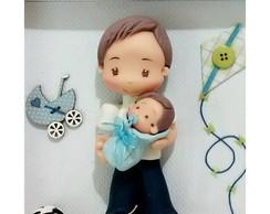 porta maternidade com irm�ozinho