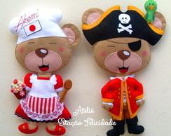 Kit Ursa Cozinheira e Urso Pirata