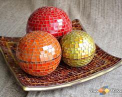 """Centro de Mesa em Mosaico """"Esferas"""""""