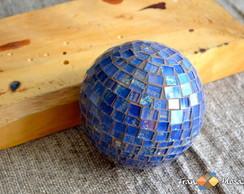 Bola Esfera Decorativa em Mosaico Tam P