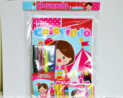 Kit Colorir Circo Rosa